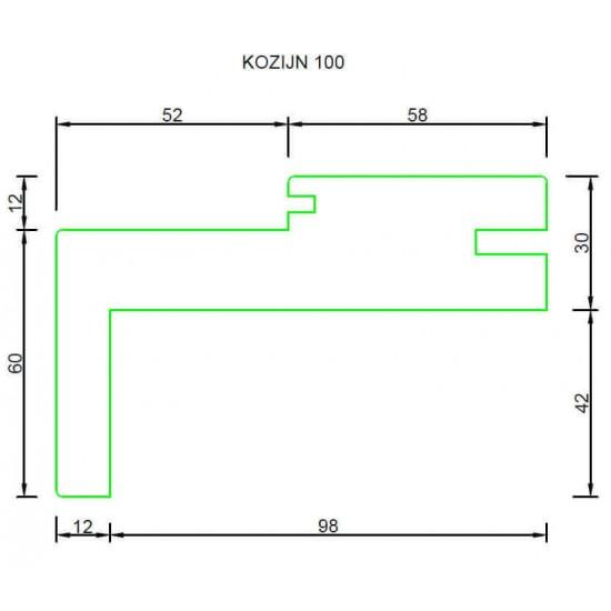 RenoV8 Ecosy kozijn 100mm met bovenlicht (wit) COMPLETE SET