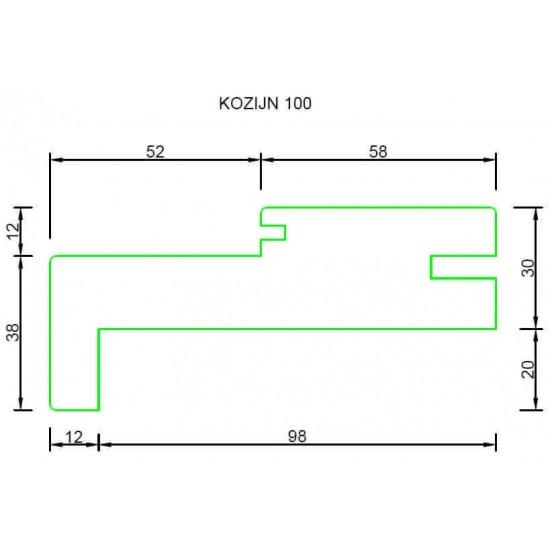 RenoV8 Nero kozijn 100mm met bovenlicht (zwart) COMPLETE SET
