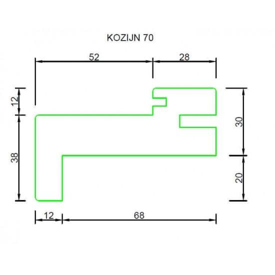 RenoV8 Nero kozijn 70mm dubbele deuren (zwart) COMPLETE SET