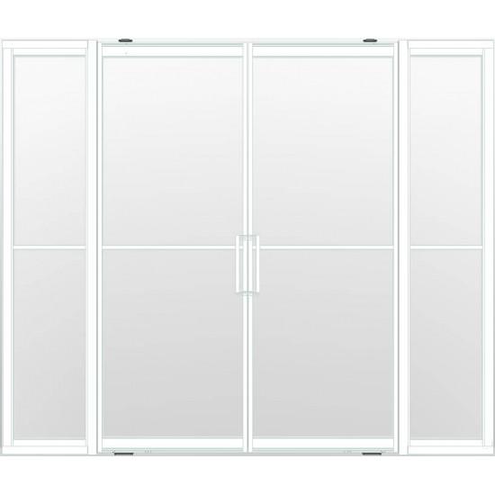 Industriële deurstel taats met zijlichten indu2 wit