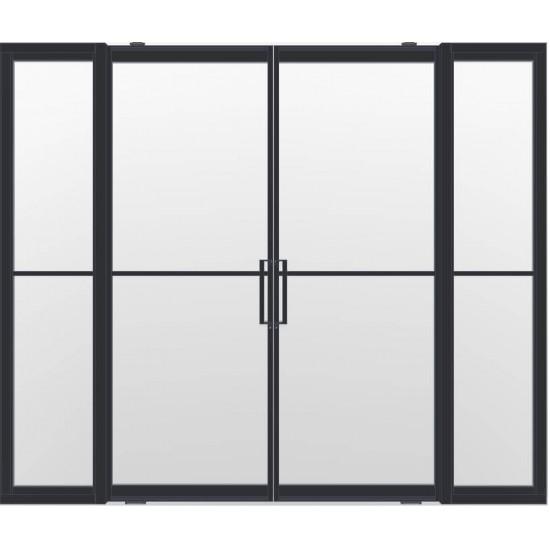 Industriële deurstel taats met zijlichten indu2 zwart