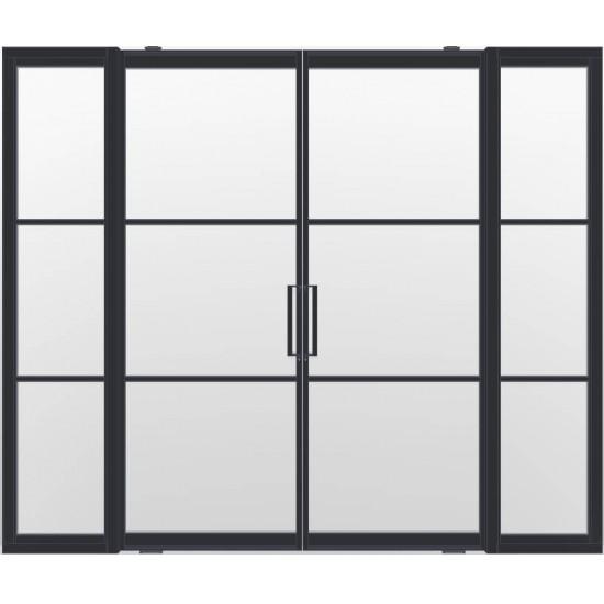 Industriële deurstel taats met zijlichten indu3 zwart