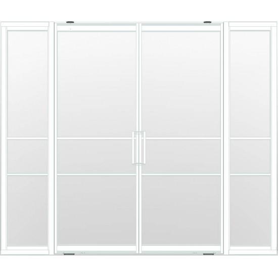 Industriële deurstel taats met zijlichten indu3a wit