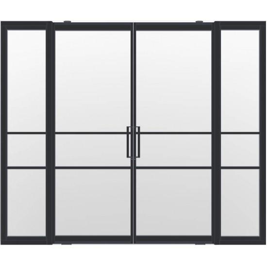 Industriële deurstel taats met zijlichten indu3a zwart