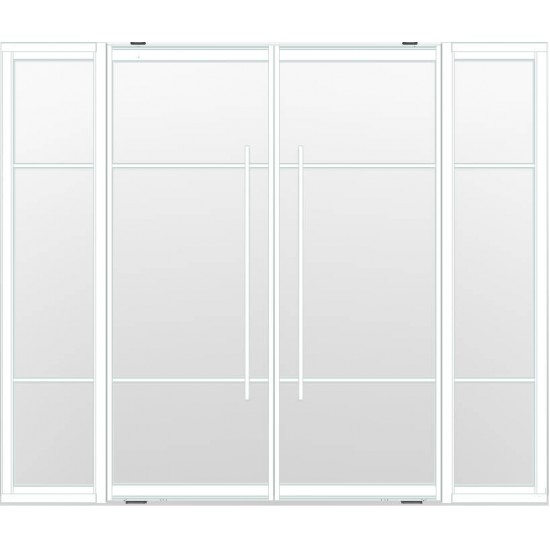 Industriële deurstel taats met zijlichten indu3b wit