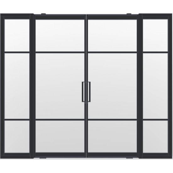 Industriële deurstel taats met zijlichten indu3b zwart