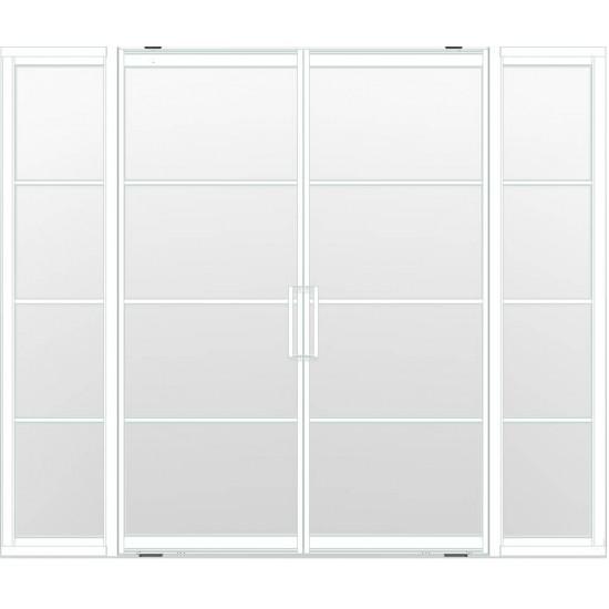 Industriële deurstel taats met zijlichten indu4 wit