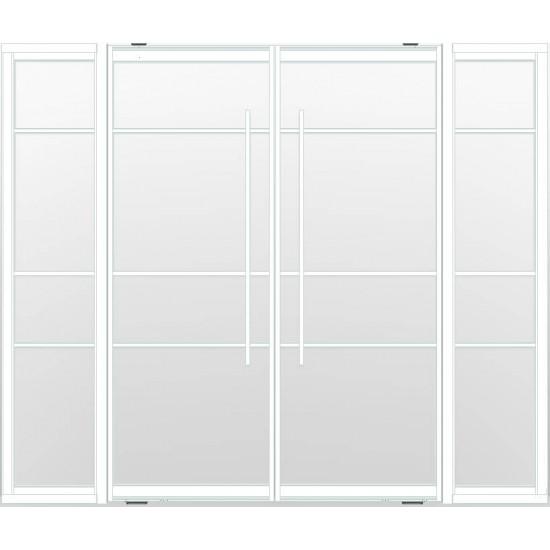 Industriële deurstel taats met zijlichten indu4a wit