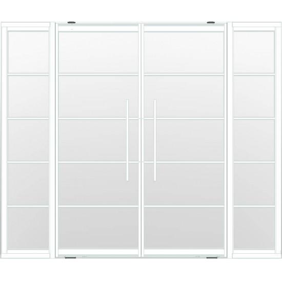 Industriële deurstel taats met zijlichten indu5 wit