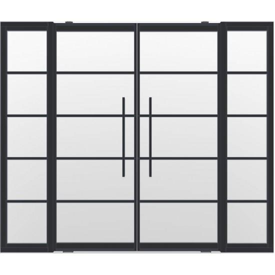 Industriële deurstel taats met zijlichten indu5 zwart