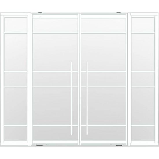 Industriële deurstel taats met zijlichten indu5a wit