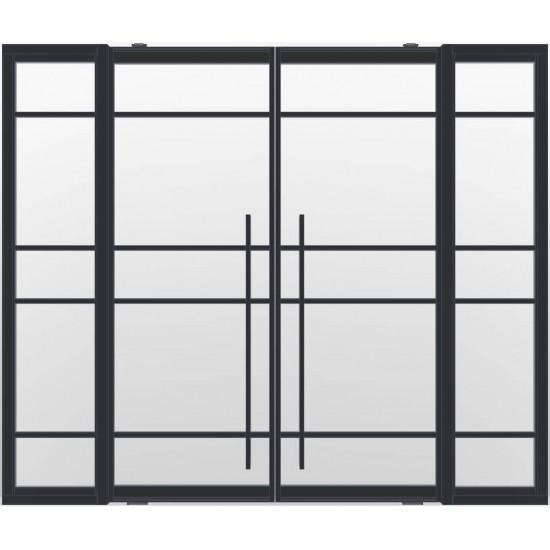 Industriële deurstel taats met zijlichten indu5a zwart