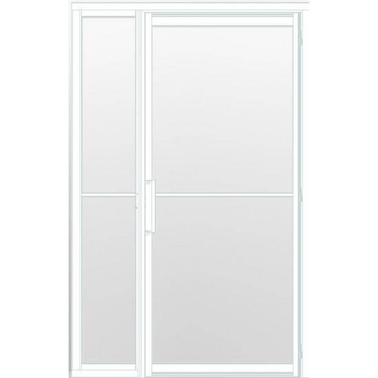 Industriële deur in kozijn met zijlicht INDU2 wit