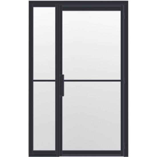Industriële deur in kozijn met zijlicht INDU2 zwart