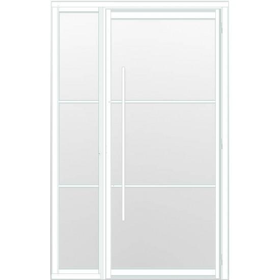 Industriële deur in kozijn met zijlicht INDU3 wit