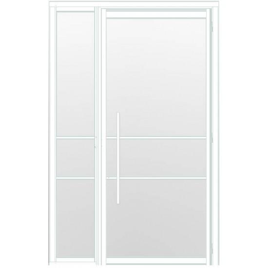 Industriële deur in kozijn met zijlicht INDU3A wit