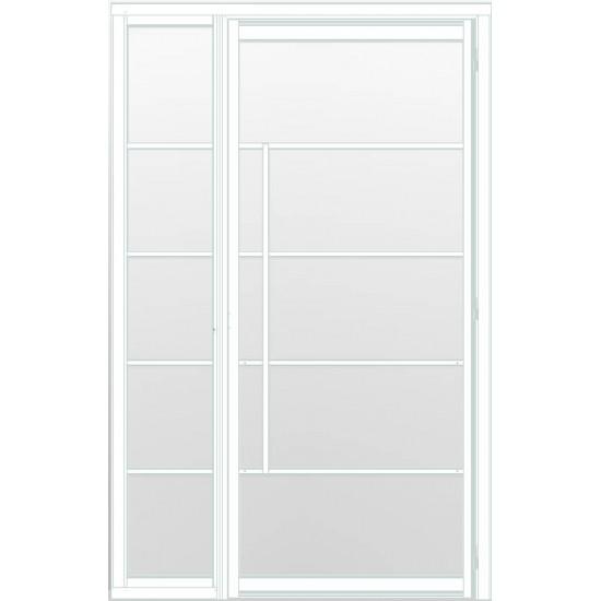 Industriële deur in kozijn met zijlicht INDU5 wit