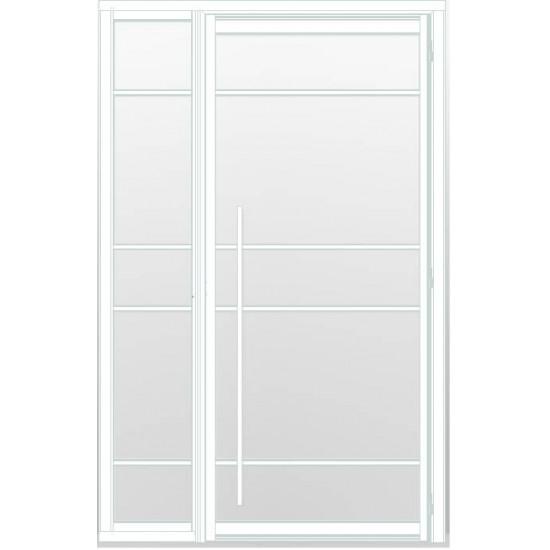 Industriële deur in kozijn met zijlicht INDU5A wit