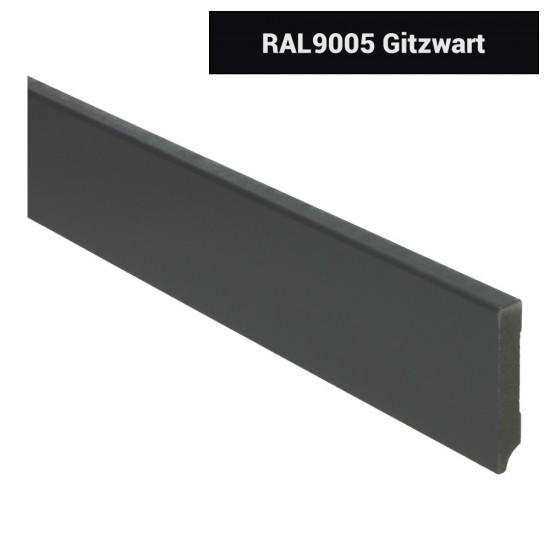 Plint modern 70x12 Voorgelakt RAL 9005