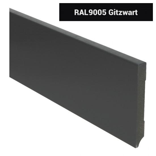 Plint modern 120x15 Voorgelakt RAL 9005