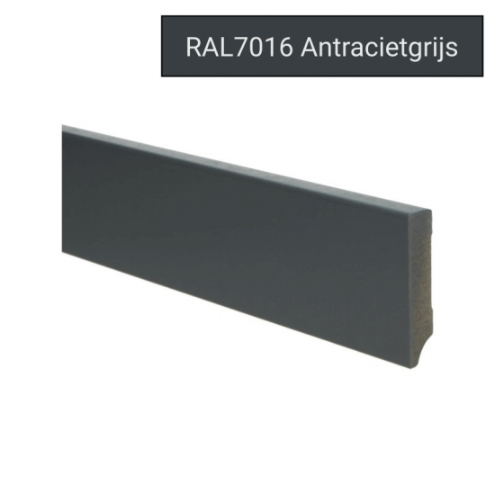 Plint modern 70x15 Voorgelakt RAL 7016