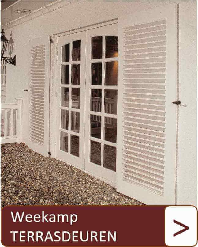 Weekamp terrasdeuren