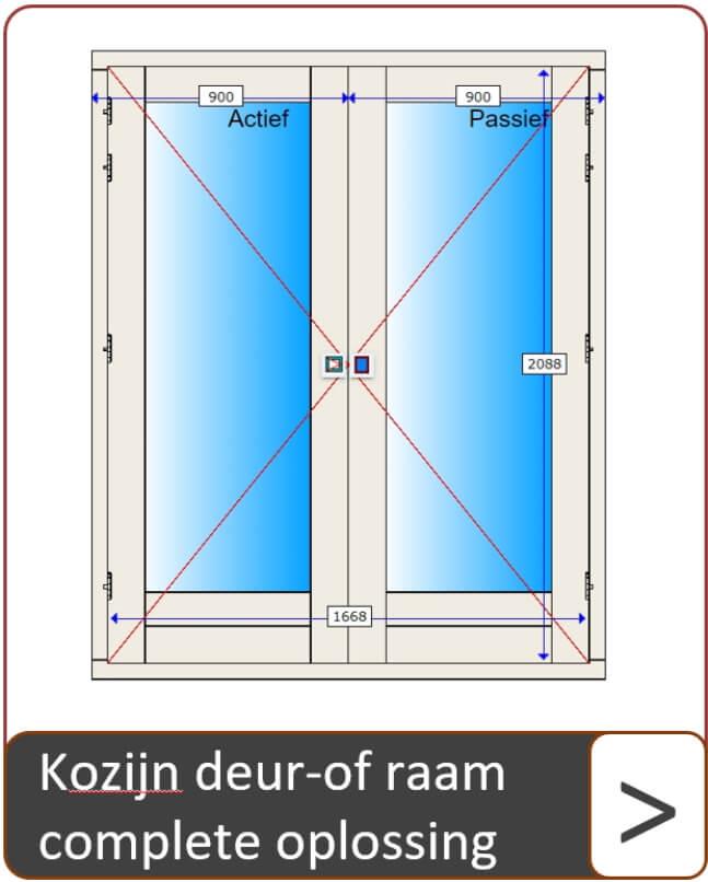 Kozijn deur- of raam complete oplossing