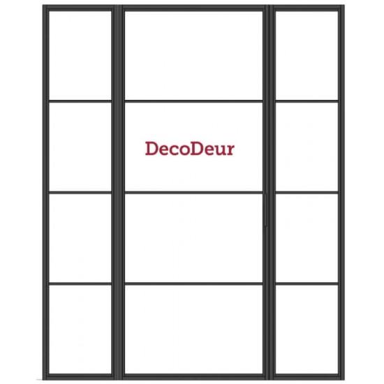 Stalen binnendeur met zijlichten DC-ST-0102