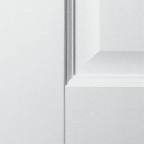 Detail deur met paneel