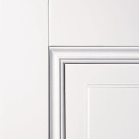 Detail deur met glas